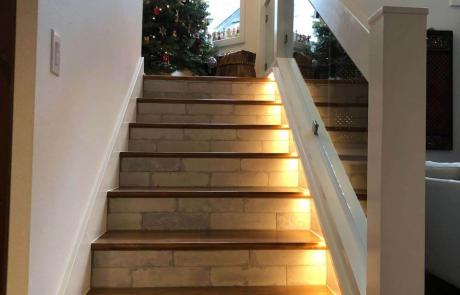 Whole Home Remodel Lighted Stairs