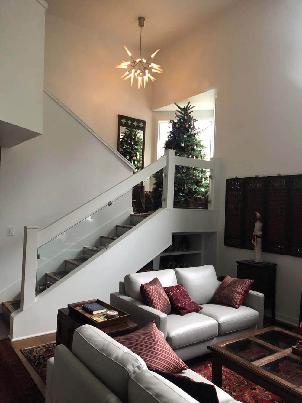 Ridgefield Home Remodeling with Stairwell Chandelier